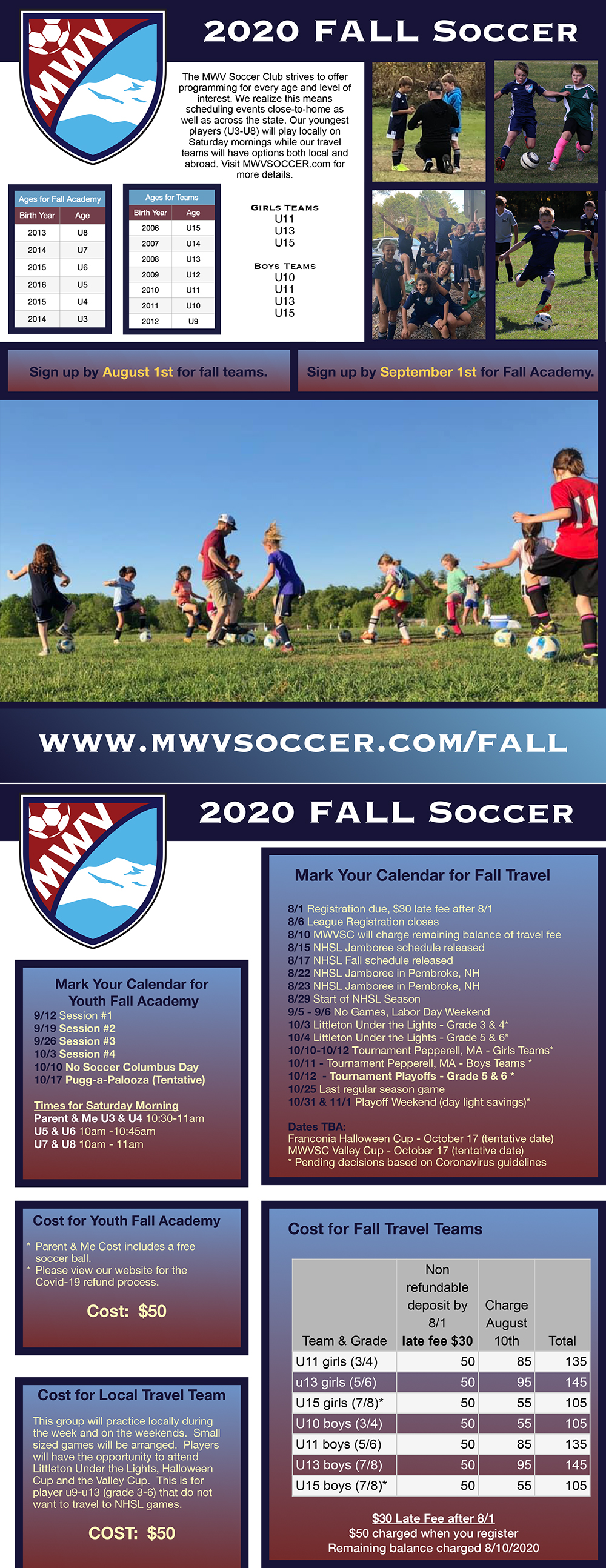 fall soccer flyer 2020